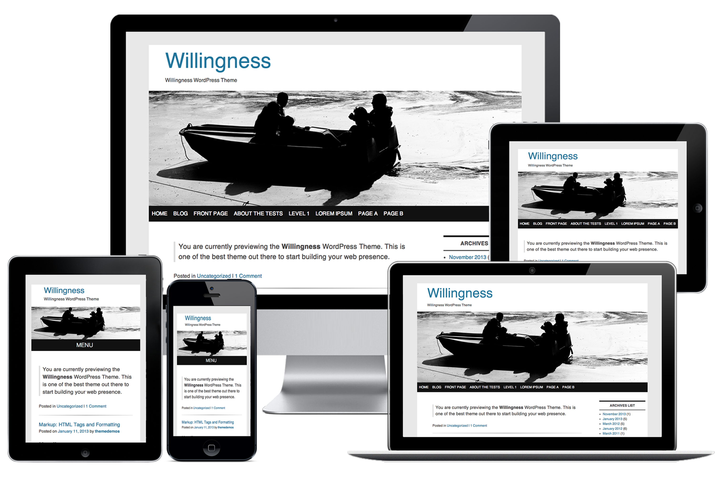 Willingness WordPress Theme Demonstration