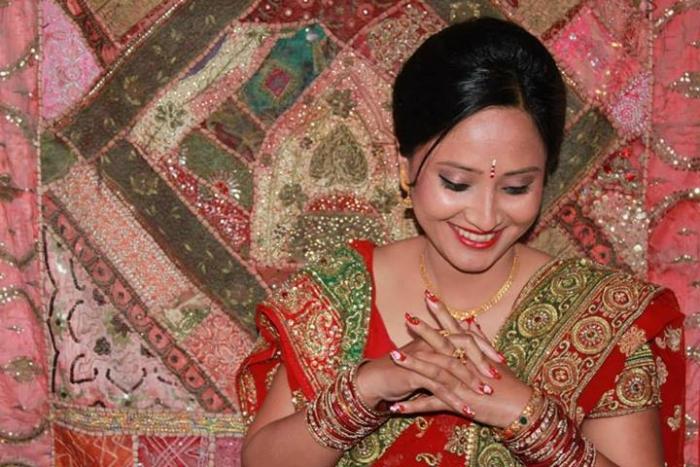 Shilpa Suwal During Wedding in Nepal