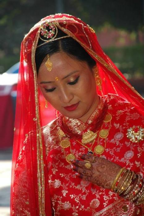 Shilpa Suwal on Wedding Day