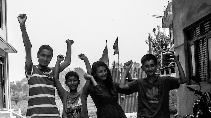 Manish Suwal, Aayush Chakradhar, Rubi Maharjan and Jenish Prajapati Celebrating Victory at Bhaktapur
