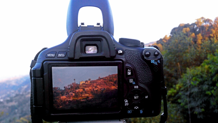 Watching Dhulikhel through Camera