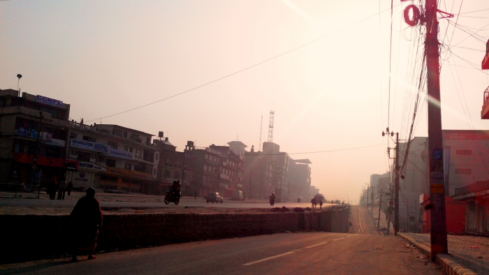 New Baneshwor Road Seen From Buddhanagar