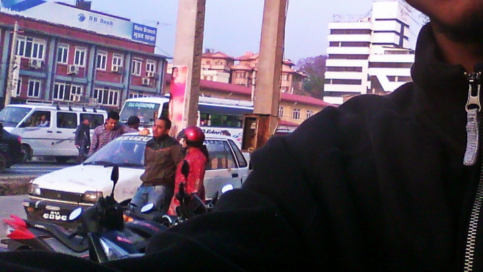 A Guy Crying on New Baneshwor Road