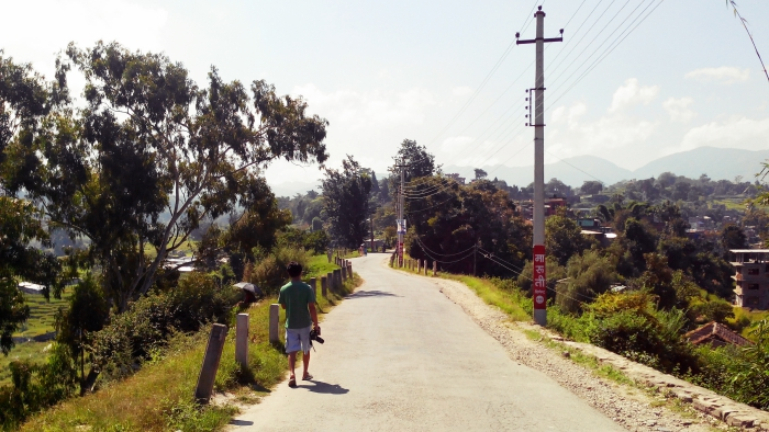 Arjawa Shrestha Walking in Bhaisepati Road