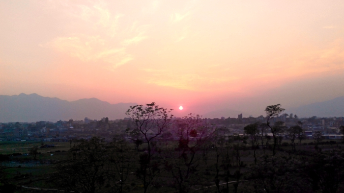 Sunset in Lokanthali