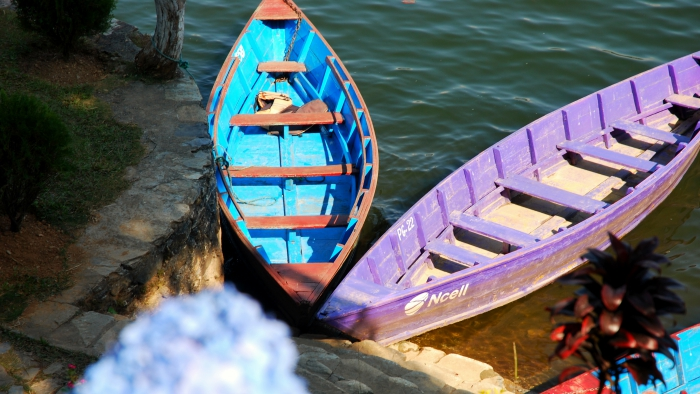 Two Boats in Pokhara