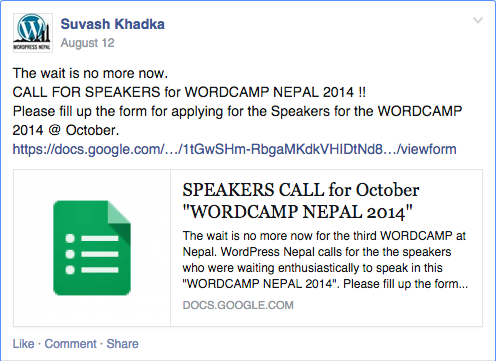 Call For WordCamp Speakers 1