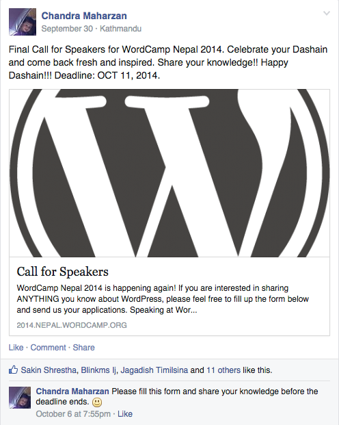 Call For WordCamp Speakers 2