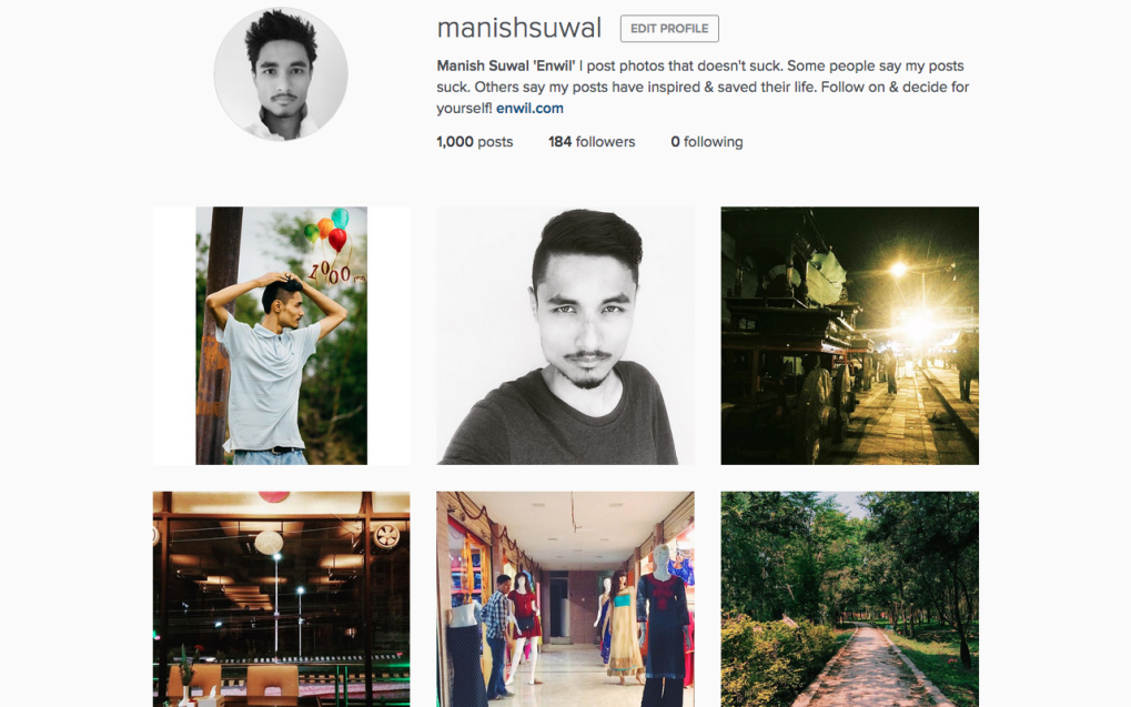 Instagram manishsuwal Profile